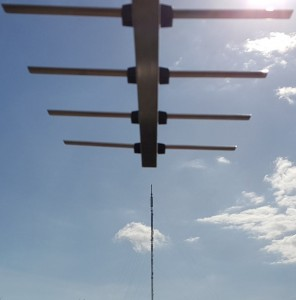 Aerial pointing at the wenvoe transmitter