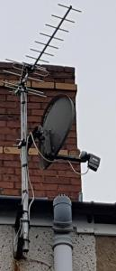 New aerial with Dish