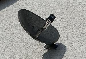 Satellite dish up close