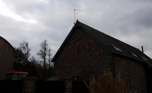 Farmhouse aerial in usk